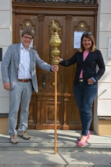 v.l. Erster Bürgermeister Martin Brenner und Erste Bürgermeisterin Sandra Dietrich-Kast