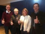 Foto / von links: Die Bürgermeister Walter Sauter, Edgar Ilg, Sandra Dietrich Kast und  Ernst Walter freuen sich auf das Erreichen der Quote und damit die Umsetzung.  fotografiert von : Matthias Kiermasz
